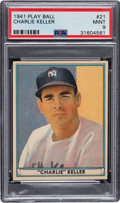 Baseball Cards:Singles (1940-1949), 1941 Play Ball Charlie Keller #21 PSA Mint 9 - Pop Two, None Higher. ...