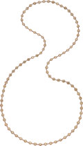 Estate Jewelry:Necklaces, Colored Diamond, Rose Gold Necklace. ...