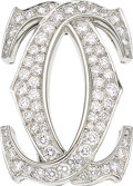 Estate Jewelry:Brooches - Pins, Diamond, White Gold Brooch, Cartier. ...