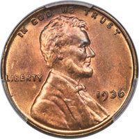 1936 1C Doubled Die Obverse, FS-101, MS65 Red and Brown PCGS. CAC....(PCGS# 37749)