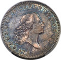 Early Half Dollars, 1795/1795 50C 2 Leaves, O-112, T-20, R.4, AU50 PCGS. CAC....