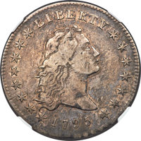 1795 $1 Flowing Hair, Three Leaves, B-6, BB-25, R.3, VF35 NGC. CAC....(PCGS# 39975)