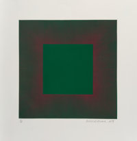 Richard Joseph Anuszkiewicz (b. 1930) Green with Red, from the Autumn Suite, 1979 Intagli