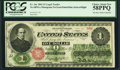 Large Size:Legal Tender Notes, Fr. 16c $1 1862 Legal Tender PCGS Choice About New 58PPQ.. ...