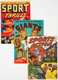 Golden Age (1938-1955):Miscellaneous, Golden Age Sports Comics Group of 13 (Various Publishers, 1945-52) Condition: Average GD+.... (Total: 13 Comic Books)
