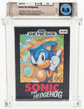 Video Games:Sega, Sonic the Hedgehog [Printed in Japan, Early Production] Wata 8.5 CIB GEN Sega 1991 USA....