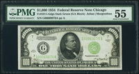 Fr. 2211-G $1,000 1934 Federal Reserve Note. PMG About Uncirculated 55