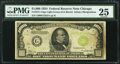 Small Size:Federal Reserve Notes, Fr. 2211-G $1,000 1934 Light Green Seal Federal Reserve Note. PMG Very Fine 25.. ...