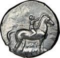 Ancients: CALABRIA. Tarentum. Ca. early 3rd century BC. AR stater or didrachm (21mm, 5h). NGC XF