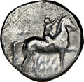 Ancients: CALABRIA. Tarentum. Ca. early 3rd century BC. AR stater or didrachm (21mm, 1h). NGC Choice Fine