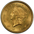 1849 G$1 Open Wreath MS63 PCGS. PCGS Population: (272/284 and 0/16+). NGC Census: (251/296 and 3/3+). CDN: $850 Whsle. B...