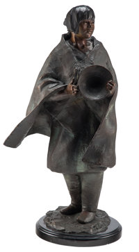 Glenna Goodacre (American, 1939-2020) Basket Dancer, 1987 Bronze with brown patina 26-1/2 inches