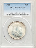 1948 50C MS65 Full Bell Lines PCGS. PCGS Population: (3112/575). NGC Census: (1120/154). CDN: $100 Whsle. Bid for NGC/PC...