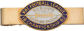 Football Collectibles:Others, 1962 NFL Championship Game Packers vs. Giants Press Tie Clip. ...