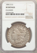 Morgan Dollars, 1896-S $1 -- Cleaned -- NGC Details. XF. Mintage 5,000,000....