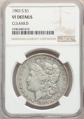 Morgan Dollars, 1903-S $1 -- Cleaned -- NGC Details. VF20 Details. Mintage 1,241,000....
