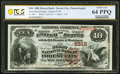 Forest City, PA - $10 1882 Brown Back Fr. 490 The First National Bank Ch. # 5518 PCGS Banknote Choice Unc 64 PPQ. ... (T...