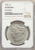 Morgan Dollars, 1894 $1 -- Cleaned -- NGC Details. XF. Mintage 110,972....
