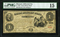 Jefferson City, MO- State of Missouri-Union Military Bond $1 Aug. 1, 1865 Cr. UG21 PMG Choice Fine 15