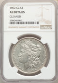 Morgan Dollars, 1892-CC $1 -- Cleaned -- NGC Details. AU. Mintage 1,352,000....