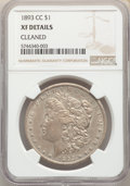 Morgan Dollars, 1893-CC $1 -- Cleaned -- NGC Details. XF. Mintage 677,000....