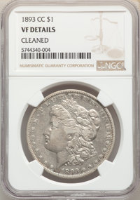 1893-CC $1 -- Cleaned -- NGC Details. VF. Mintage 677,000....(PCGS# 7222)