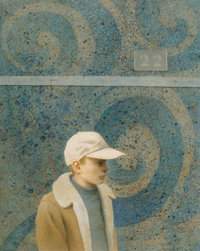 Robert Remsen Vickrey (American, 1926-2011) Number 22 Oil on Masonite 20 x 16 inches (50.8 x 40.6