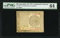 Colonial Notes:Continental Congress Issues, Continental Currency September 26, 1778 $60 Contemporary Counterfeit PMG Choice Uncirculated 64.. ...