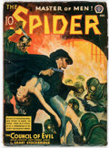 Pulps:Hero, The Spider - October 1940 (Popular) Condition: GD/VG....