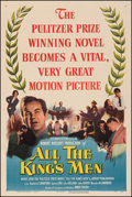 """Movie Posters:Academy Award Winners, All the King's Men (Columbia, 1949). Very Fine- on Linen. One Sheet (27"""" X 41""""). Academy Award Winners.. ..."""