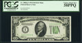 Small Size:Federal Reserve Notes, Fr. 2005-I $10 1934 Dark Green Seal Mule Federal Reserve Note. PCGS Choice About New 58PPQ.. ...