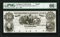 Obsoletes By State:Arkansas, Little Rock, AR- Cincinnati & Little Rock Slate Compy. $10 Mar. 1, 1855 Rothert 409-9 Proof PMG Gem Uncirculated 66 EPQ,...