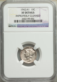 1942/1 10C FS-101 -- Improperly Cleaned -- NGC Details. XF. Mintage 205,432,336. ...(PCGS# 145473)