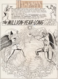 "Original Comic Art:Complete Story, Murphy Anderson Hawkman #12 Complete 24-Page Story ""The Million-Year-Long War!"" and 1-Page ""Bird"" Feature Original... (Total: 25 Original Art)"
