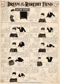 Original Comic Art:Comic Strip Art, Winsor McCay (as Silas) Dream of the Rarebit Fiend Large-Scale Daily Comic Strip Original Art (New York Herald Co....
