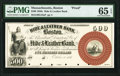 Boston, MA- Hide & Leather Bank $500 Oct. 1, 1857 as G18a Proof PMG Gem Uncirculated 65 EPQ