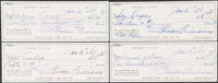 1984 Ted Williams Signed Checks, Lot of 4