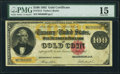 Large Size:Gold Certificates, Fr. 1214 $100 1882 Gold Certificate PMG Choice Fine 15.. ...