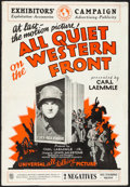 "Movie Posters:Academy Award Winners, All Quiet on the Western Front (Universal, 1930). Folded, Fine+. Cut Pressbook (12 Pages, 13.5"" X 19.5""). Academy Award Winn..."