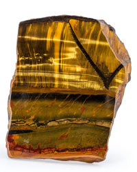 Tiger's-Eye Piece Mt. Brockman Station Pilbara Western Australia 5.30 x 4.42 x 1.94 inches (13.47 x 11.23