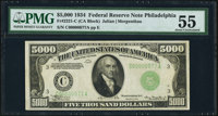 Fr. 2221-C $5,000 1934 Federal Reserve Note. PMG About Uncirculated 55
