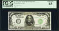 Small Size:Federal Reserve Notes, Fr. 2211-G* $1,000 1934 Federal Reserve Note. PCGS Choice New 63.. ...