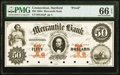 Obsoletes By State:Connecticut, Hartford, CT- Mercantile Bank $50 185_ as G42a Proof PMG Gem Uncirculated 66 EPQ.. ...