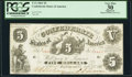Confederate Notes:1861 Issues, T11 $5 1861 Cr. 44 PCGS Apparent Very Fine 30.. ...