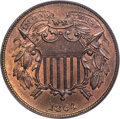 1864 2C Small Motto MS65 Red and Brown PCGS....(PCGS# 3580)