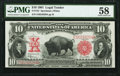 Large Size:Legal Tender Notes, Fr. 122 $10 1901 Legal Tender PMG Choice About Unc 58.. ...