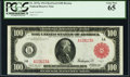 Fr. 1072a $100 1914 Red Seal Federal Reserve Note PCGS Gem New 65