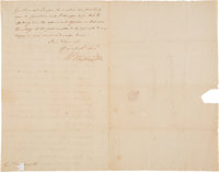 George Washington Letter Signed