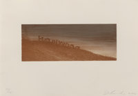 Ed Ruscha (b. 1937) Landmark Decay, 2006 Lithograph in colors on wove paper 3-1/2 x 9 inches (8.9