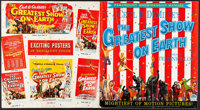 """The Greatest Show on Earth (Paramount, 1952). Folded, Fine+. Cut Pressbook (48 Pages, 15"""" X 16.5""""). Drama"""